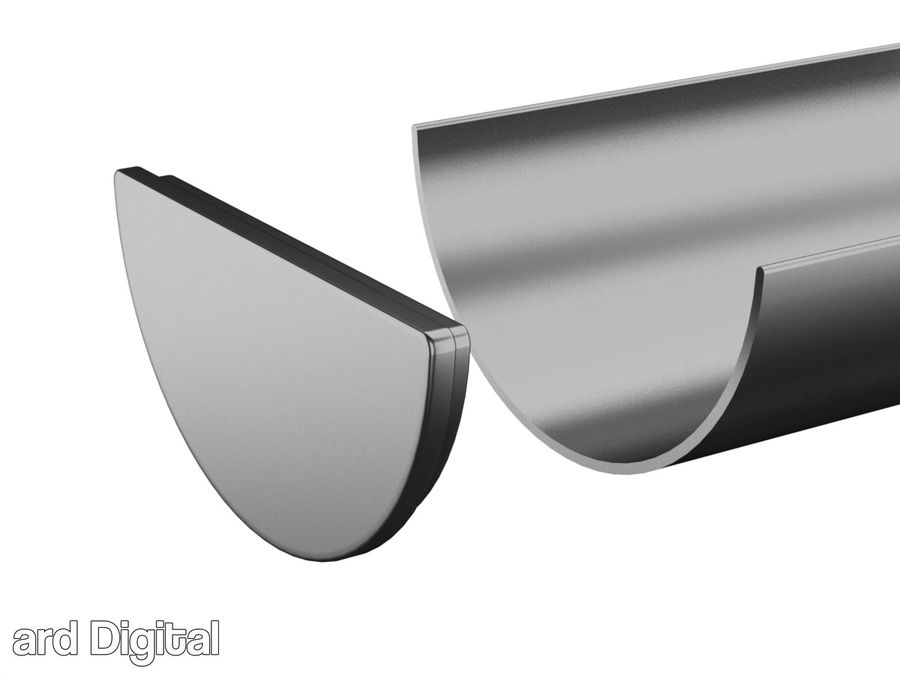 Gutter & Rain Water Set royalty-free 3d model - Preview no. 9