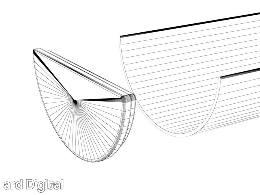 Gutter & Rain Water Set royalty-free 3d model - Preview no. 10