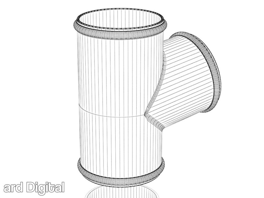 Gutter & Rain Water Set royalty-free 3d model - Preview no. 12