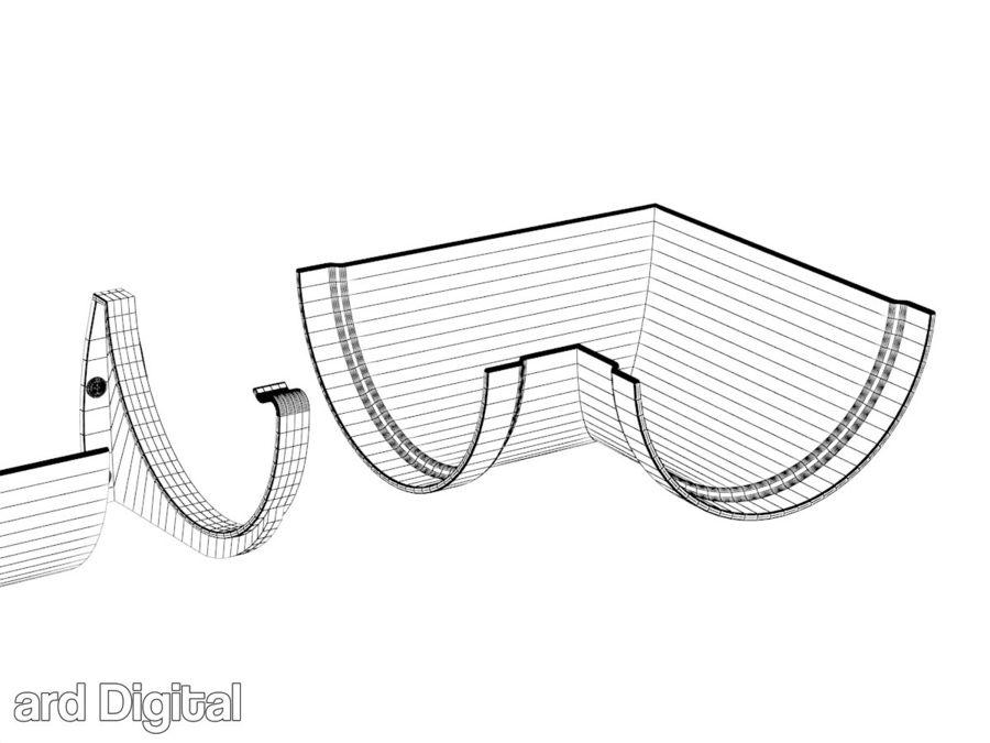 Gutter & Rain Water Set royalty-free 3d model - Preview no. 6