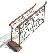 Classic Forged Handrails 3d model