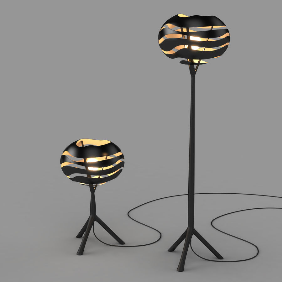 Floor Lamp royalty-free 3d model - Preview no. 10