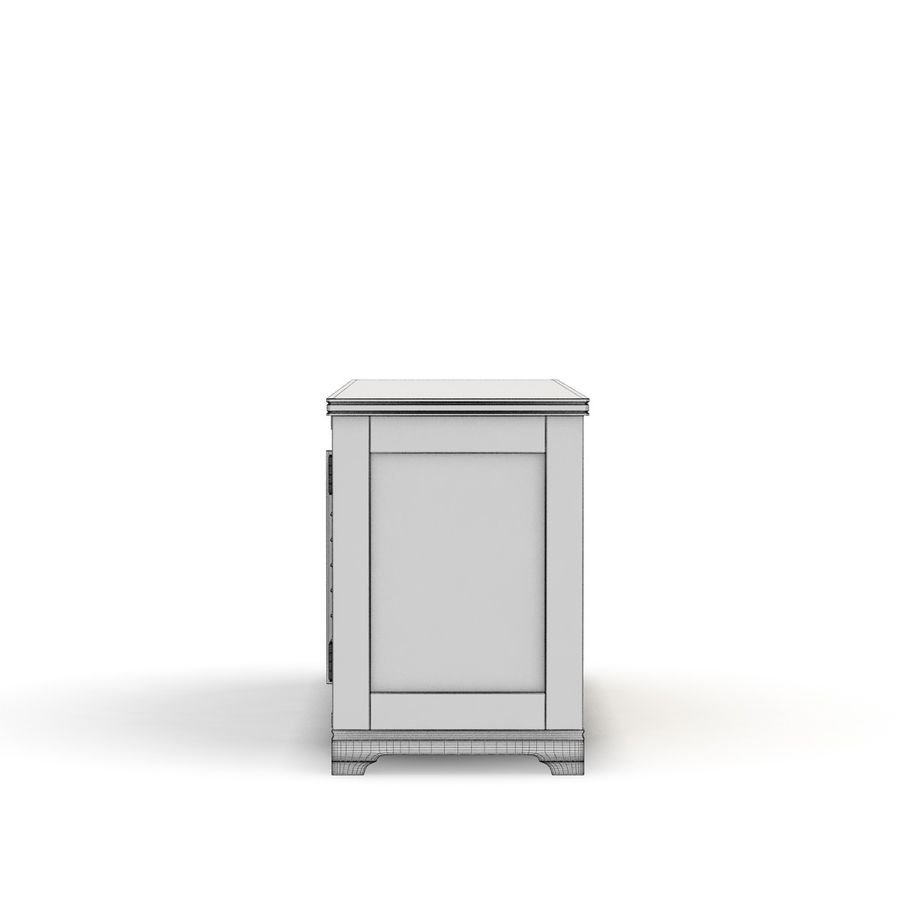Pottery Barn - Andover Cabinet - Holstead Shutter Large Media Console royalty-free 3d model - Preview no. 7