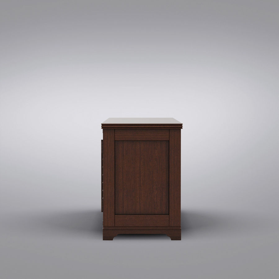 Pottery Barn - Andover Cabinet - Holstead Shutter Large Media Console royalty-free 3d model - Preview no. 8