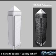 カナリーワーフ 3d model