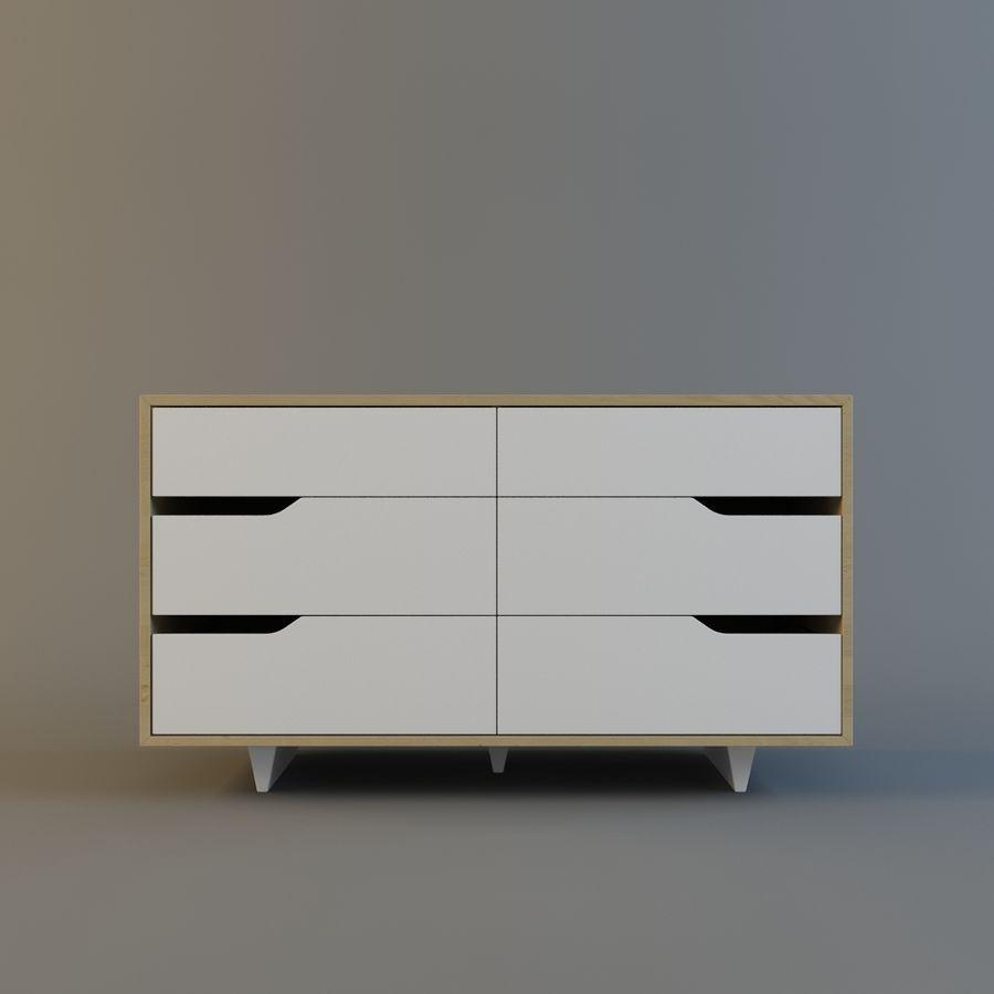 Cassettiera Ikea Hemnes 6 Cassetti.Ikea Mendal Cassettiera A 6 Cassetti Modello 3d 8 Unknown Obj