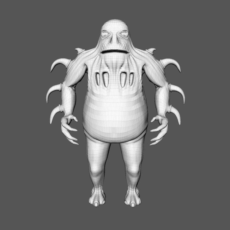 Woren lowres royalty-free 3d model - Preview no. 8