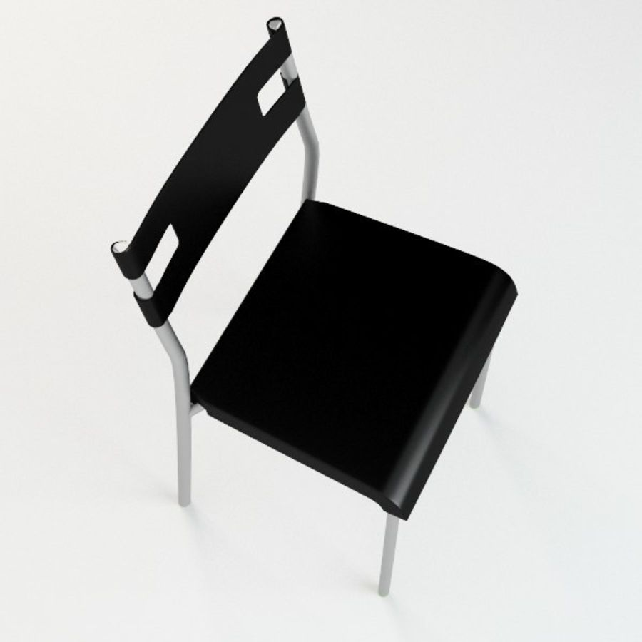 Ikea Laver chair royalty-free 3d model - Preview no. 3