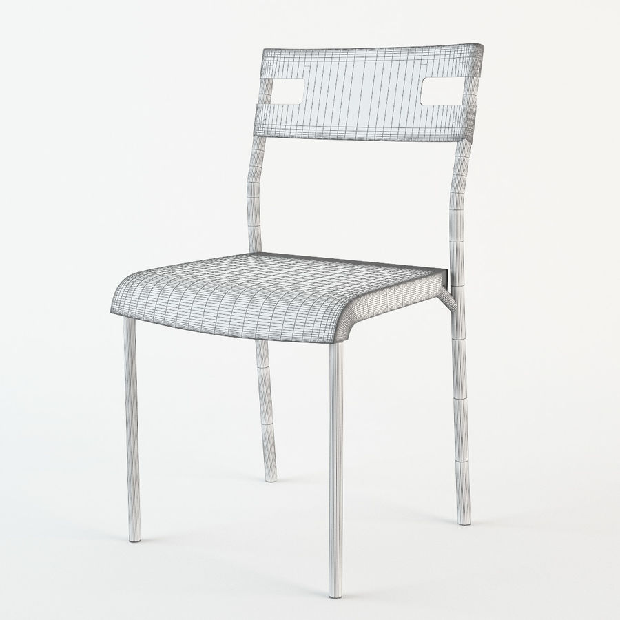 Ikea Laver chair royalty-free 3d model - Preview no. 7