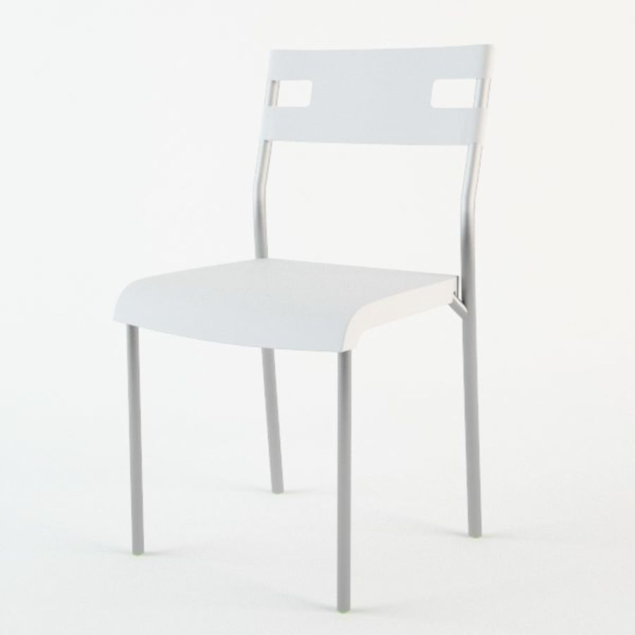 Ikea Laver chair royalty-free 3d model - Preview no. 4