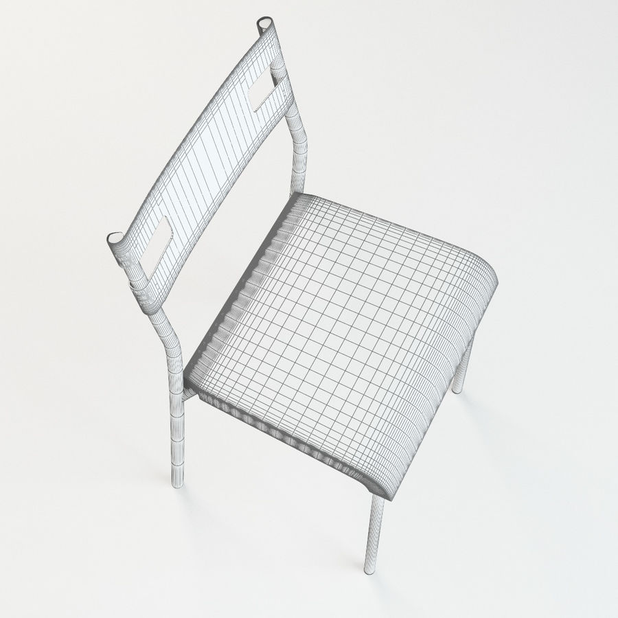 Ikea Laver chair royalty-free 3d model - Preview no. 9