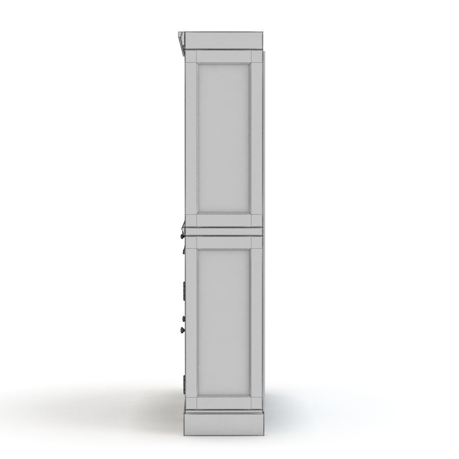 Pottery Barn - Mason Media Armoire - Modular Bar System z 1 Wine Hutch i 2 Open Hutch royalty-free 3d model - Preview no. 7