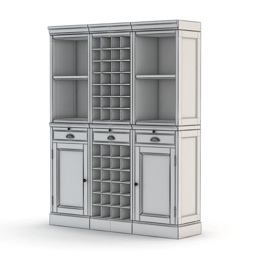 Pottery Barn - Mason Media Armoire - Modular Bar System z 1 Wine Hutch i 2 Open Hutch royalty-free 3d model - Preview no. 3