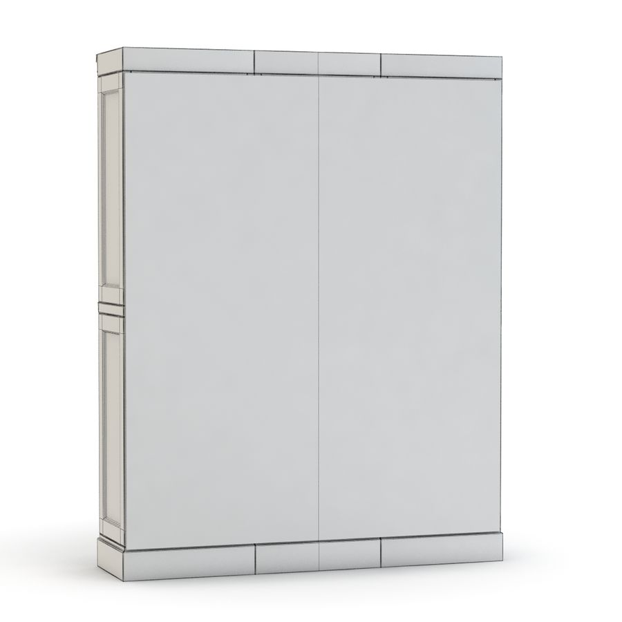Pottery Barn - Mason Media Armoire - Modular Bar System z 1 Wine Hutch i 2 Open Hutch royalty-free 3d model - Preview no. 9
