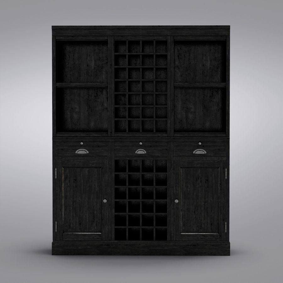 Pottery Barn - Mason Media Armoire - Modular Bar System z 1 Wine Hutch i 2 Open Hutch royalty-free 3d model - Preview no. 5