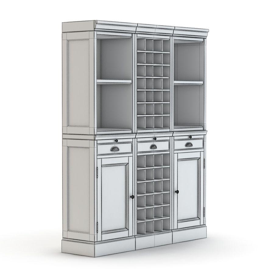 Pottery Barn - Mason Media Armoire - Modular Bar System z 1 Wine Hutch i 2 Open Hutch royalty-free 3d model - Preview no. 6