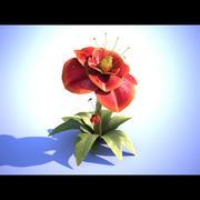 Red Flower 3d model