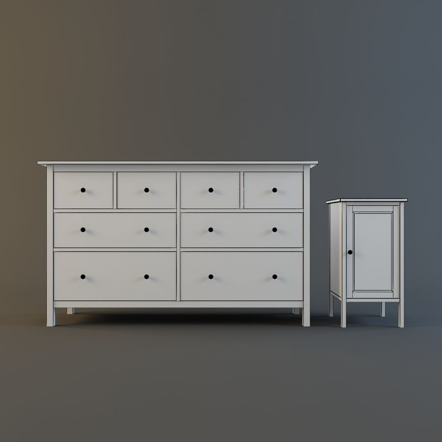 IKEA HEMNES royalty-free 3d model - Preview no. 7