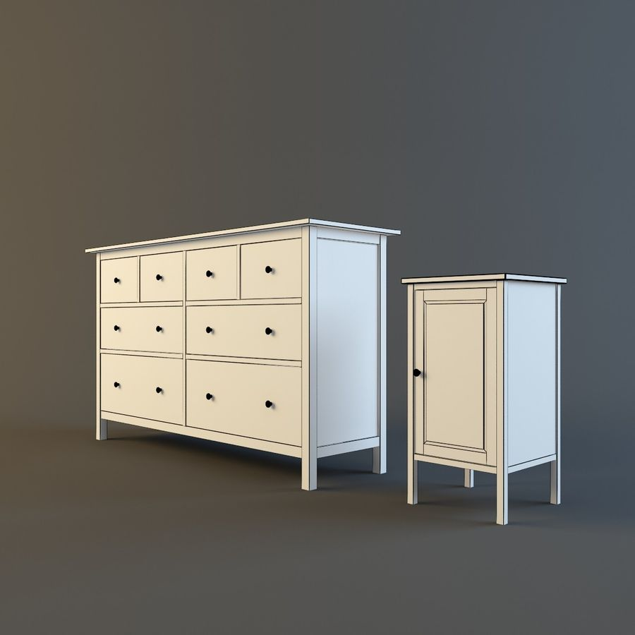 IKEA HEMNES royalty-free 3d model - Preview no. 6