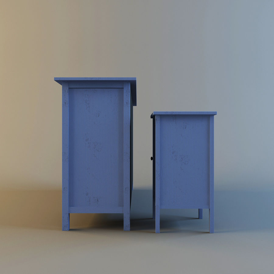 IKEA HEMNES royalty-free 3d model - Preview no. 2