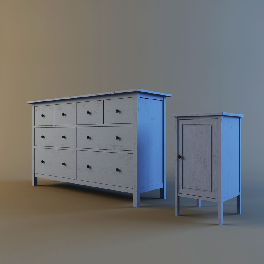 IKEA HEMNES royalty-free 3d model - Preview no. 4