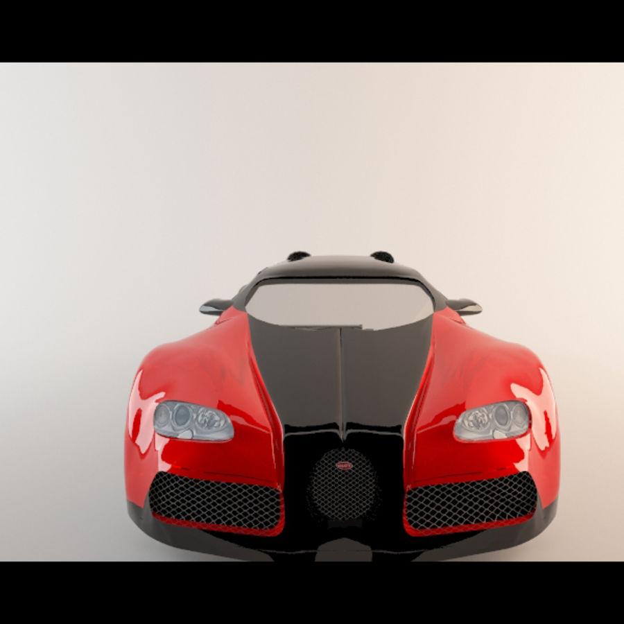 Bugatti Veyron royalty-free 3d model - Preview no. 5
