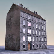 Европейское Здание 009 3d model