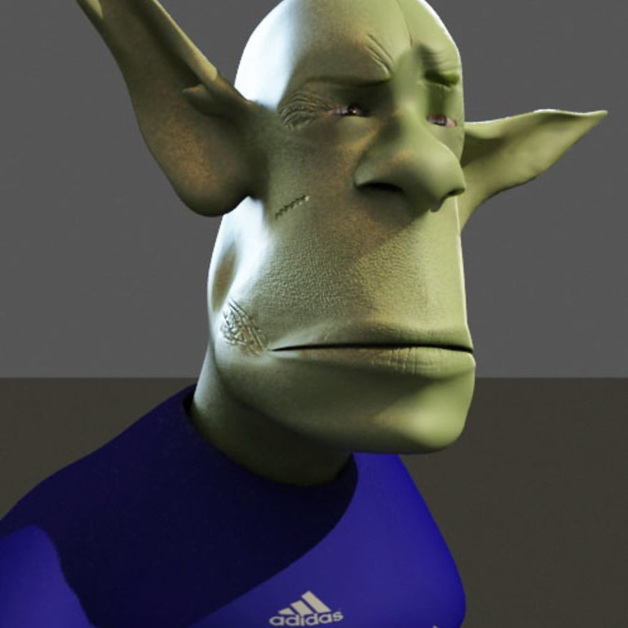 the alien royalty-free 3d model - Preview no. 8
