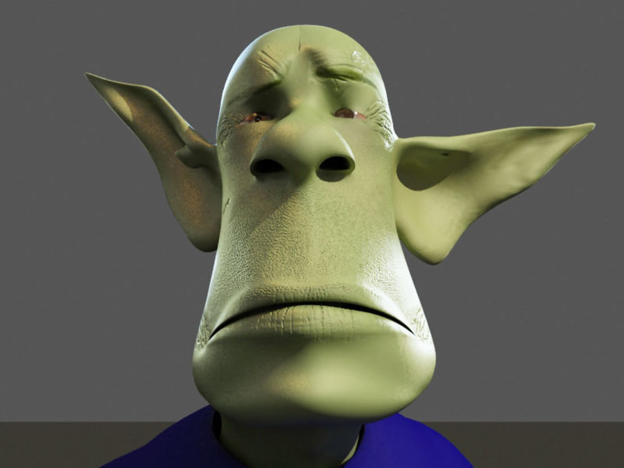 the alien royalty-free 3d model - Preview no. 5