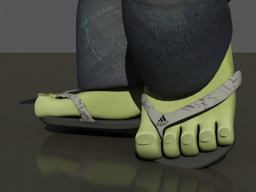 the alien royalty-free 3d model - Preview no. 6