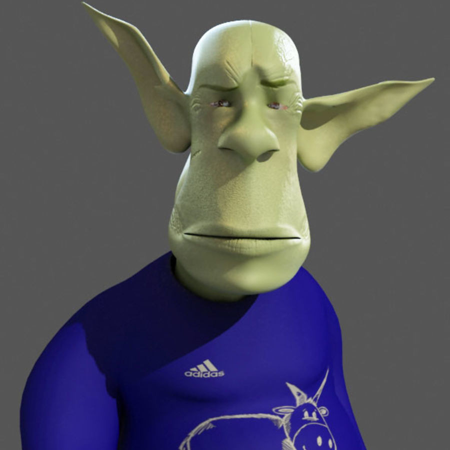the alien royalty-free 3d model - Preview no. 2