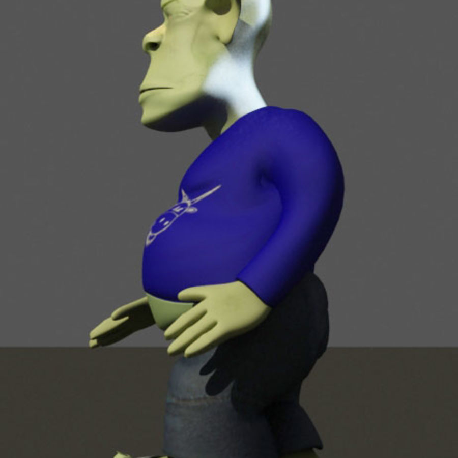 the alien royalty-free 3d model - Preview no. 4