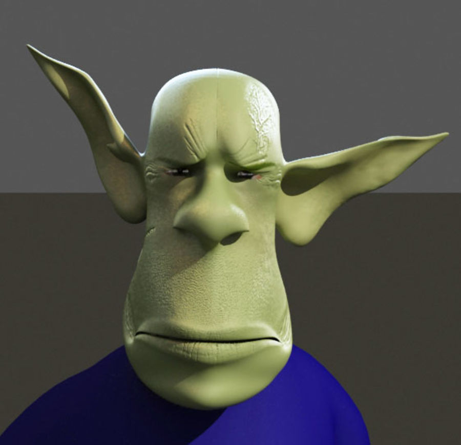 the alien royalty-free 3d model - Preview no. 9