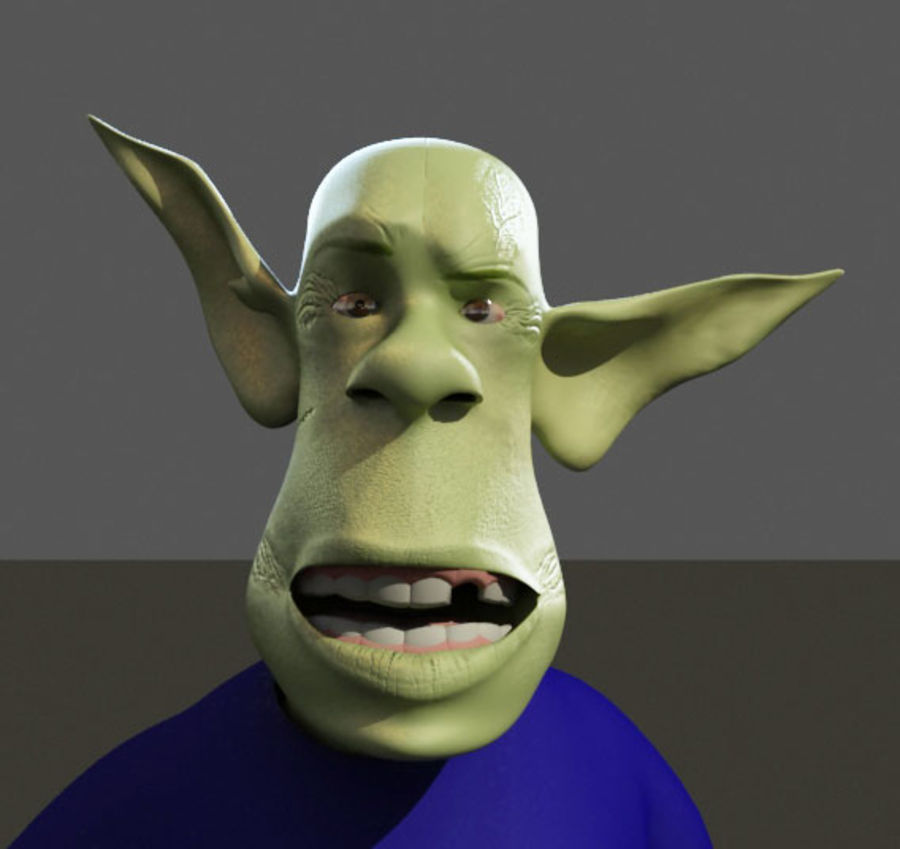 the alien royalty-free 3d model - Preview no. 12