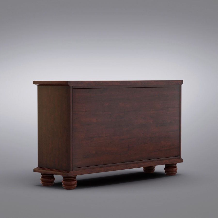 Pottery Barn - Andover Cabinet - Hayden Buffet royalty-free 3d model - Preview no. 11