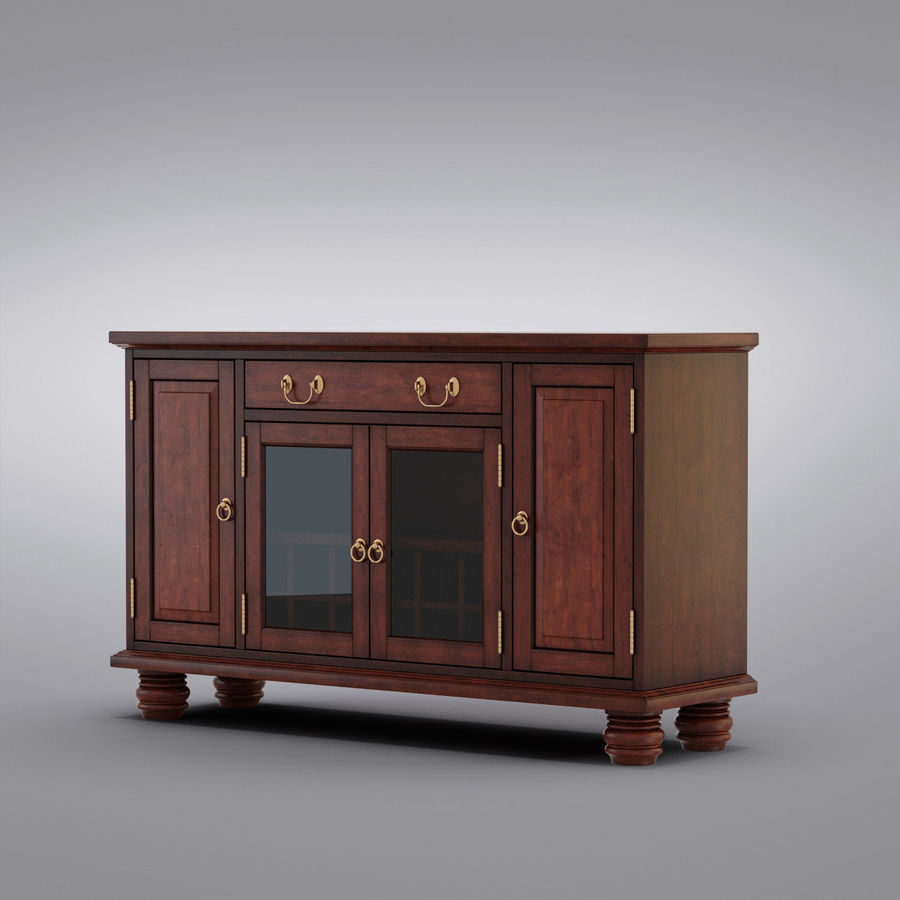 Pottery Barn - Andover Cabinet - Hayden Buffet royalty-free 3d model - Preview no. 3