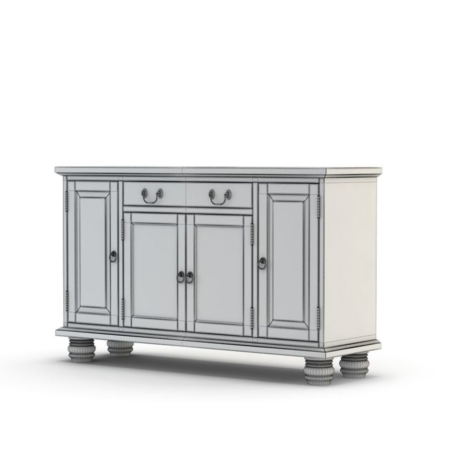 Pottery Barn - Andover Cabinet - Hayden Buffet royalty-free 3d model - Preview no. 4
