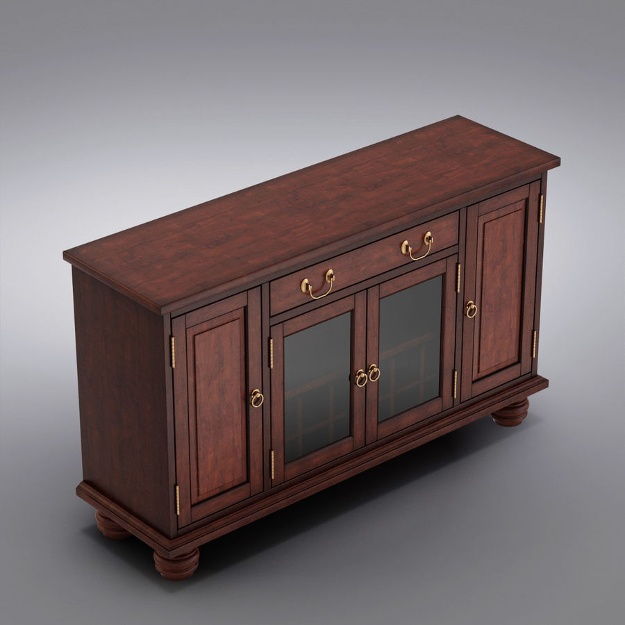 Pottery Barn - Andover Cabinet - Hayden Buffet royalty-free 3d model - Preview no. 2
