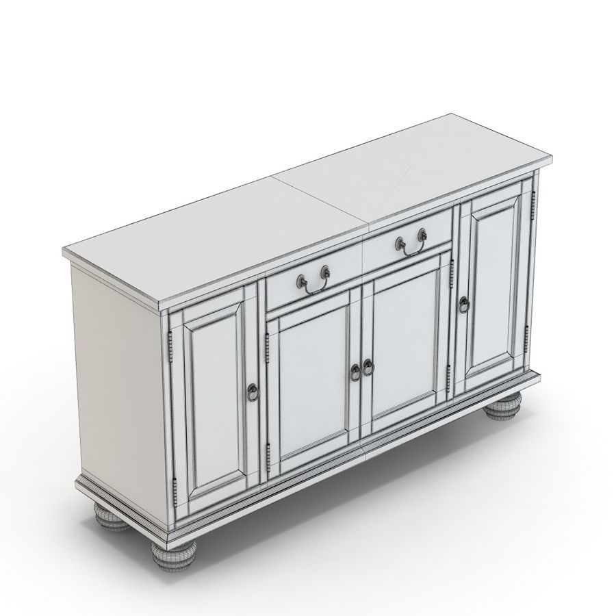 Pottery Barn - Andover Cabinet - Hayden Buffet royalty-free 3d model - Preview no. 12