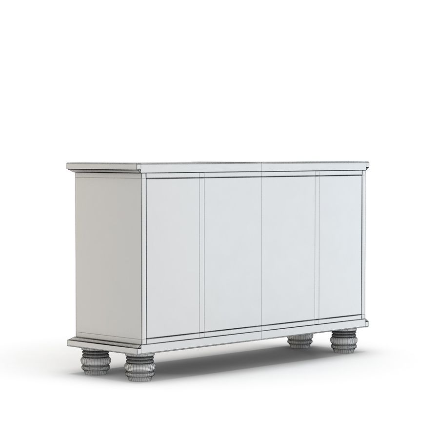 Pottery Barn - Andover Cabinet - Hayden Buffet royalty-free 3d model - Preview no. 10