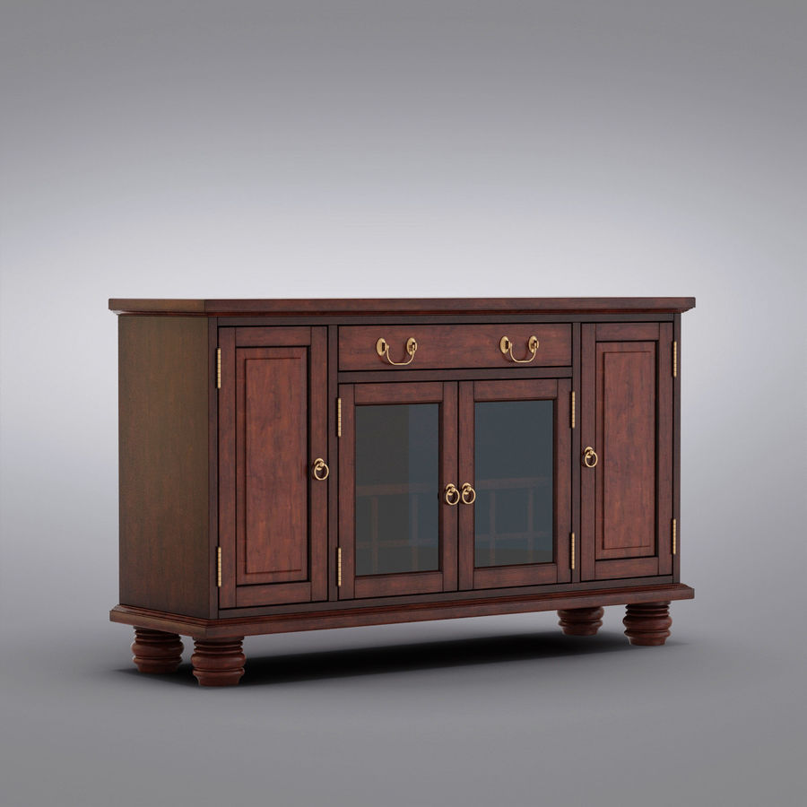 Pottery Barn - Andover Cabinet - Hayden Buffet royalty-free 3d model - Preview no. 1