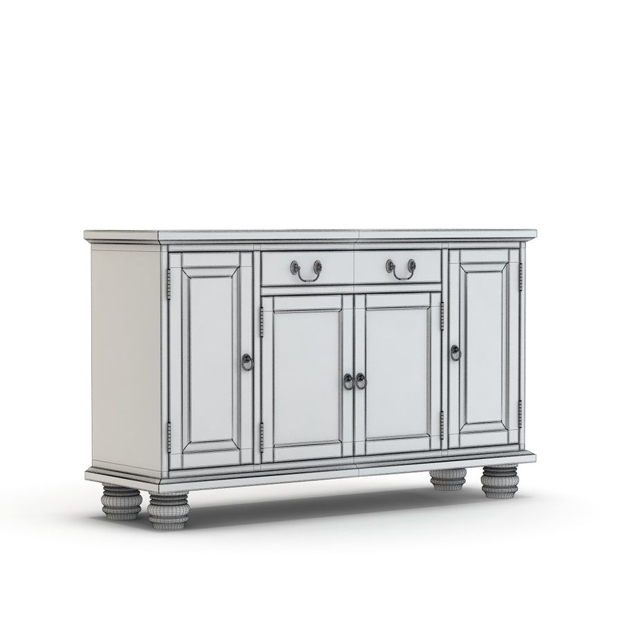 Pottery Barn - Andover Cabinet - Hayden Buffet royalty-free 3d model - Preview no. 7