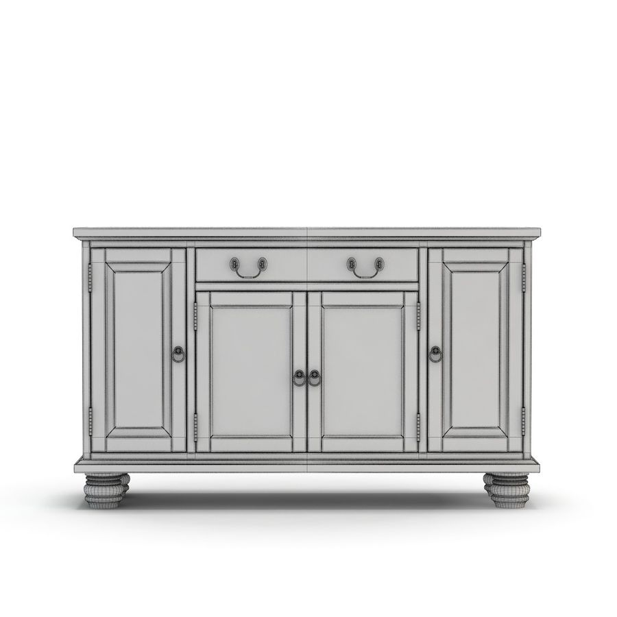 Pottery Barn - Andover Cabinet - Hayden Buffet royalty-free 3d model - Preview no. 5