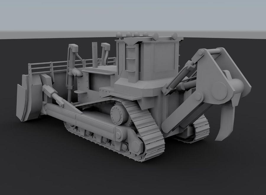 Bulldozer 2.0 royalty-free 3d model - Preview no. 8