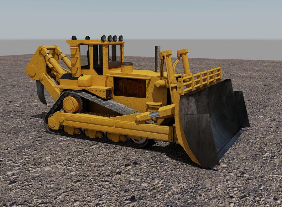 Bulldozer 2.0 royalty-free 3d model - Preview no. 2