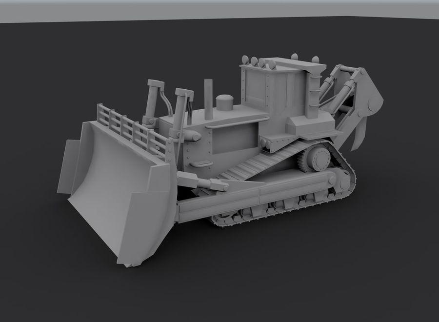 Bulldozer 2.0 royalty-free 3d model - Preview no. 7
