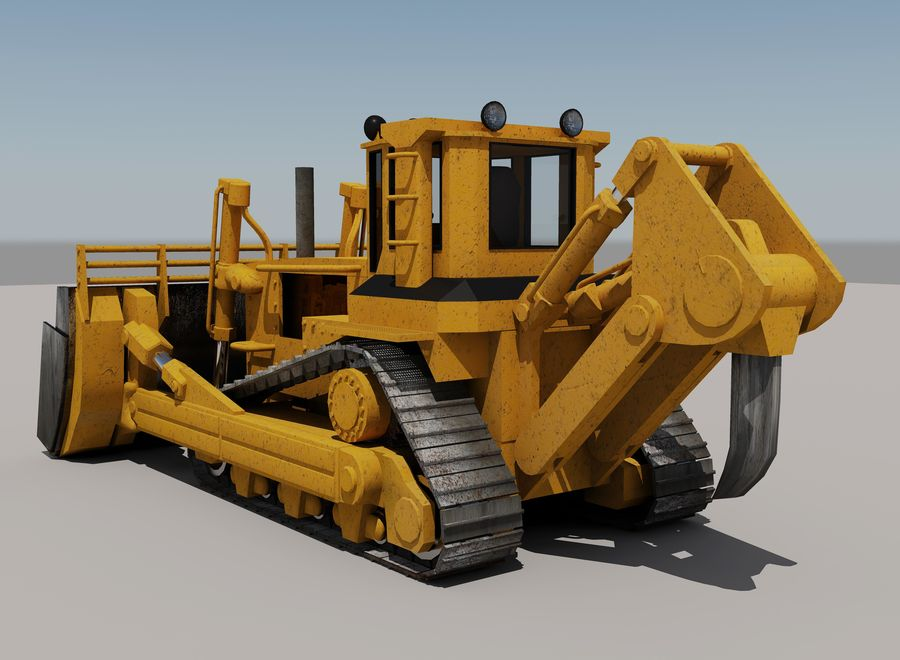 Bulldozer 2.0 royalty-free 3d model - Preview no. 3