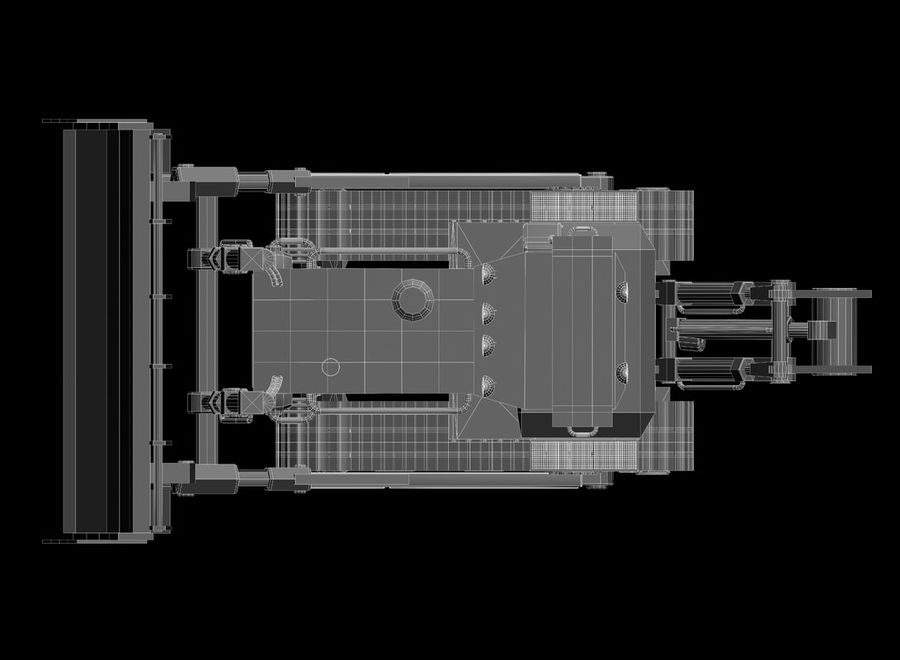 Bulldozer 2.0 royalty-free 3d model - Preview no. 13