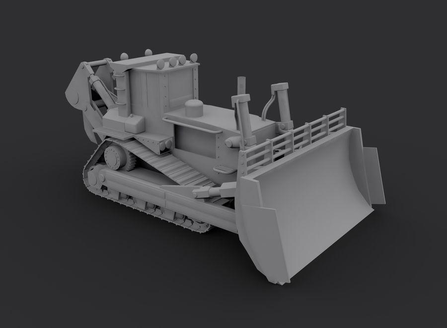 Bulldozer 2.0 royalty-free 3d model - Preview no. 6