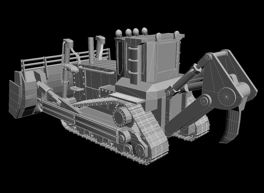 Bulldozer 2.0 royalty-free 3d model - Preview no. 11